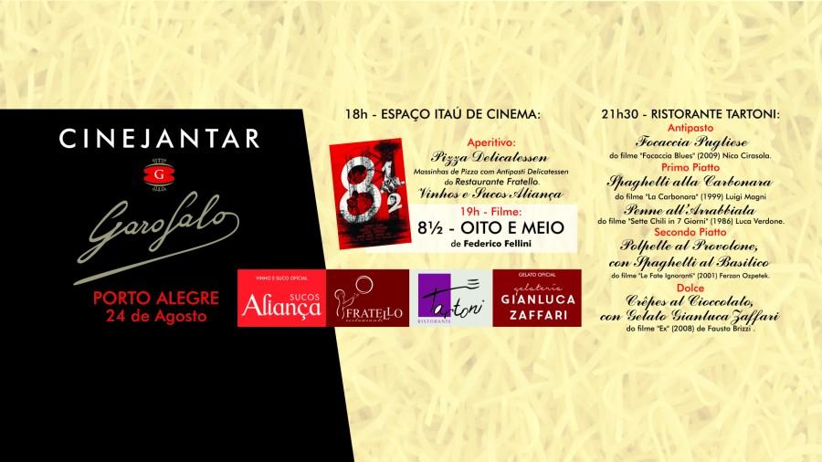 """Cine-Jantar de abertura da 3ª edição de """"8 ½ – FESTA DO CINEMA ITALIANO"""""""